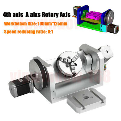 CNC Router Rotary Axis 4th A Axis 3 Jaw 100MM Chuck Dividing Head