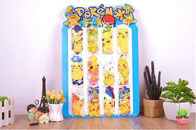 Pokemon Paper Bookmark x12 Different Size