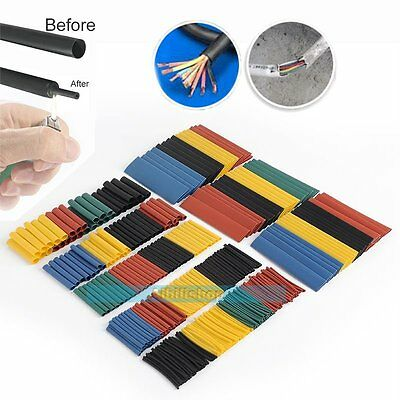 328Pcs Heat Shrink Wire Cable Tubing Tube Sleeve Wrap Shrinkage Ratio 2:1【UK】