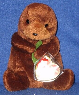 TY SEAWEED the OTTER BEANIE BABY - MINT with NON MINT TAG