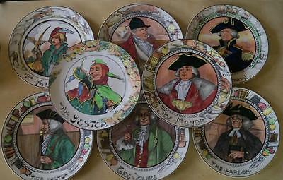 Royal Doulton Series Ware Set of 8 Professionals Rack Display Plates inc Jester