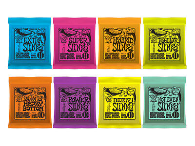 Ernie Ball Slinky Electric Guitar Strings, (1,3,12 packs) LOWEST PRICES