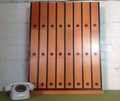 Vintage Pigeon Hole With Sliding Doors Made In Poland Storage Unit