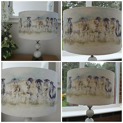 """""""come By"""" Voyage Country Sheep Lampshade Various Sizes - 20Cm 30Cm 40Cm"""