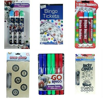 Pack of 3 / Pack Of 6  Bingo Dabbers Markers Pens  Assorted Colours Non Drip