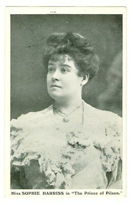 Stage Actress Sophie Harriss Prince Of Pilsen Photo Postcard Free Shipping