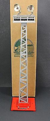 MTH  Tinplate Traditions Lionel 92 Floodlight Tower MIB Red Silver Sealed