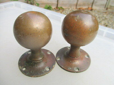 Antique Bronze Door Knobs Handles Pulls Architectural Reclaim Old Vintage Edward