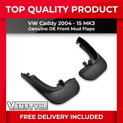 Vw Volkswagen Caddy & Maxi 2004-15 Front Mud Flaps Genuine Oe Mudflap Guard Pair