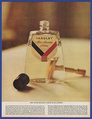 Vintage 1961 YARDLEY After Shave Lotion Shaving Razors Bathroom Print Ad 60's