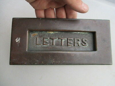 Antique Brass Letter Box Post Slot Vintage Architectural Vintage WT&Sons Old