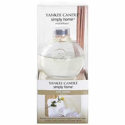 Yankee Candle Reed Diffuser 88.7ml Home Room Air Fragrance Oil Scent Soft Cotton
