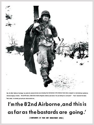 This Is As Far As The Bastards Are Going 82nd Airborne Division Poster