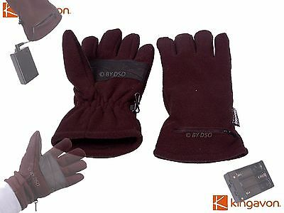 Mens Battery Operated 3M Thinsulate Thermal Fleece Heat Retention Heated Gloves