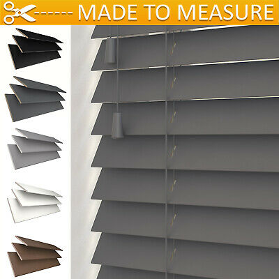 *premium* Made To Measure Venetian Blind With Strings - Real Wood - 50Mm Slats