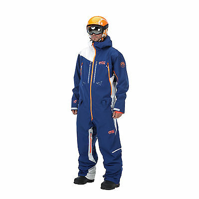 Picture Mens Stratos All In One Piece Suit Ski Snow Dark Blue White