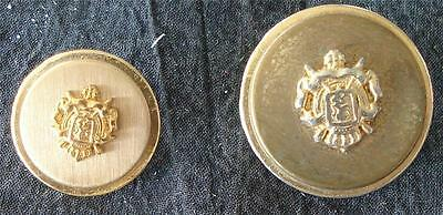 Nice Vintage Set of 2 Metal Buttons, VG CONDITION - GREAT VINTAGE BUTTONS