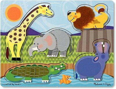 Zoo Animals Touch and Feel Puzzle. Free Delivery