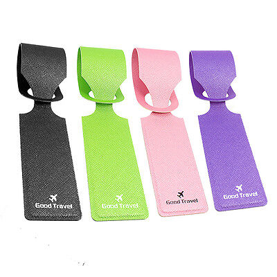 4x Luggage Tags Suitcase Label Name Address ID Bag Baggage Holiday Travel Tags