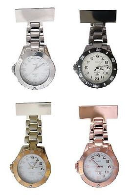 NY London Unisex Coloured Metal FOB Watch Nurse Doctor Paramedic Tunic Brooch