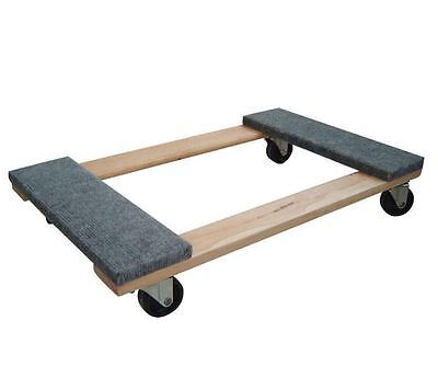 New 1000 lb. Capacity Strong Wood Base 3 in. Swivel Wheels Furniture Dolly