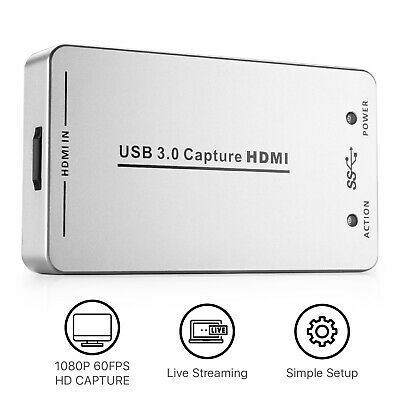 HDMI to USB 3.0 Capture Card Device Dongle 1080P Video Audio Adapter Win Mac