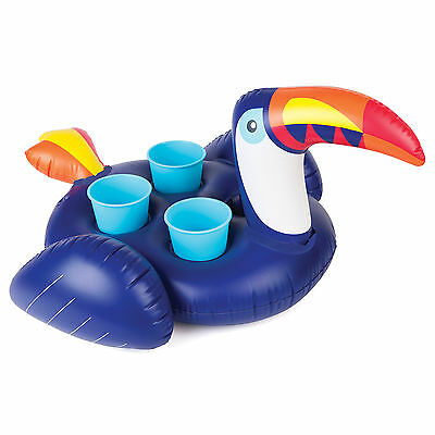 Sunnylife - Inflatable Toucan Drink Holder / Pool Float Toy - Holds 4 Cups