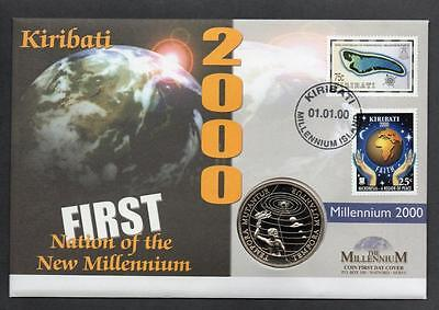 Kiribati 2000 First Nation of the New Millennium $1 Coin Cover