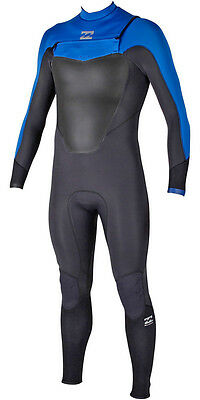 Billabong Absolute Comp Chest Zip 5/4Mm Wetsuit 2016 Blue