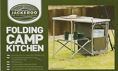 Brand New Folding Camp Kitchen with Zippered Cupboard Free Delivery