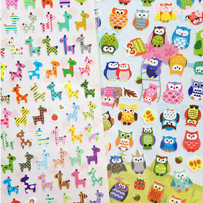 Photo DIY Animal Planner Diary Stickers Biscuits Scrapbook Calendar Decor WB