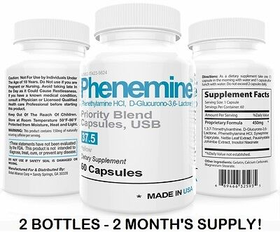 Phenemine 120CT Weight Loss Diet Pills Strongest Fat Burner Appetite Suppressant