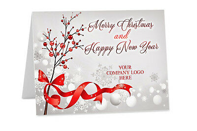 Personalised CHRISTMAS New Year Corporate Company Logo Family Greeting Cards ch4