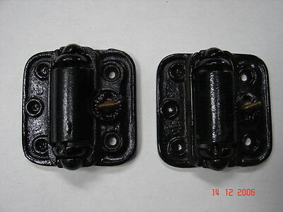 2 Antique Screen Door Hinges Quick Release NEW OLD STOCK Self Closing