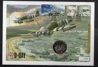 Guernsey 2004 The 60th Anniversary of D-Day £5 Coin Cover