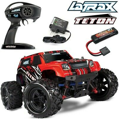 NEW Traxxas LaTrax Teton 1/18 4WD RTR RC Monster Truck RED w/BATTERY & CHARGER!!