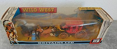 Britains Ltd Stage Coach Postkutsche Cowboys mit OVP 7615