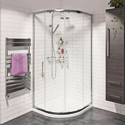 Corner Shower Enclosure And Tray&Waste Quadrant Cubicle Walk In EASY CLEAN GLASS