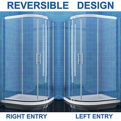 Quadrant shower cubicle Enclosure Walk in Corner 6mm Easy Clean Glass Door