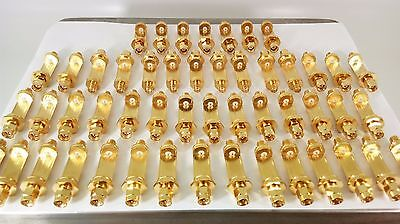 2 LB Gold Scraps Recovery 49 Gold Plated Antenna Part Connectors Heavy Duty 906g