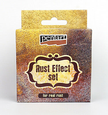 Pentart Rust effect powder + 3 reagents Complete set