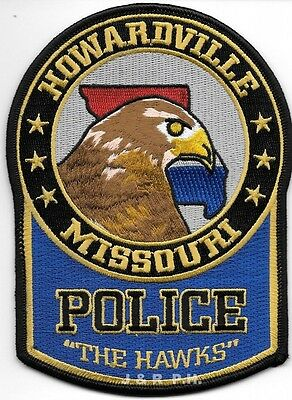 "Howardville  ""The Hawks"", MO (4"" x 5.5"") shoulder police patch (fire)"