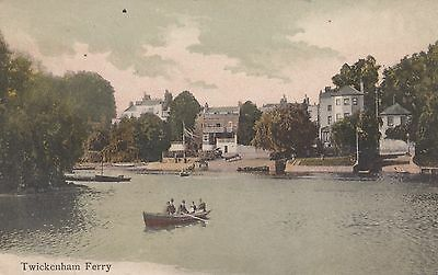 Twickenham, Middlesex, Ferry, old postcard, posted to Shanghai 1906