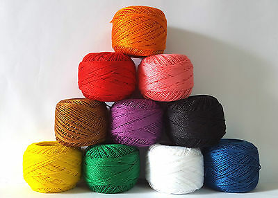 10 Anchor Pearl Cotton Embroidery Crochet thread size 8 , 85m solid colors