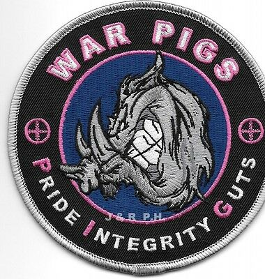 "Wilmington, NC  ""WAR PIGS""  (4.25"" round) shoulder police patch (fire)"