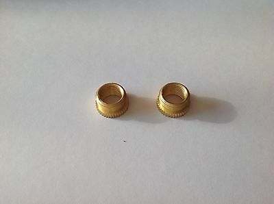 2 x Brass Table Lamp Screw Thread Reducer Adaptor from 1/2 inch or 13mm to 10mm