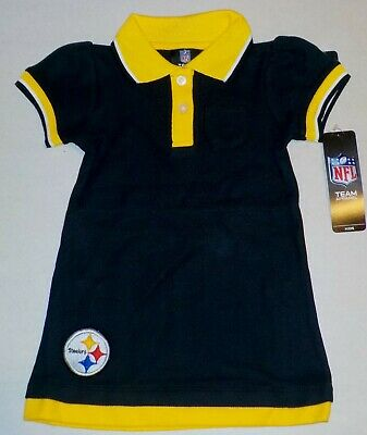 Pittsburgh Steelers Nfl Team Apparel Jersey T Shirt Toddler 2T 3T 4T Nwt Black