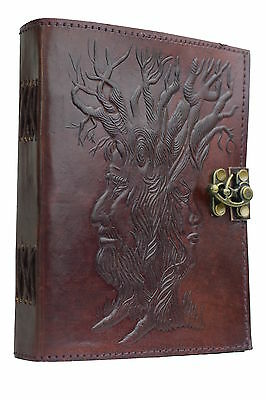 Wisdom of Trees Leather Bound journal diary NEW PAPER ART Cotton Handmade India