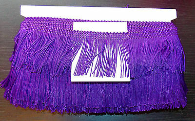 "1m 2.5"" 6cm drop Tassel Fringe / Fringing Trim lace trimming  PURPLE"