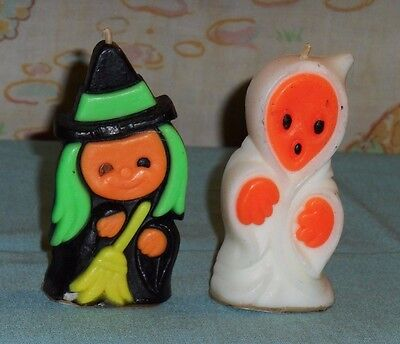 vintage Halloween SUNI WITCH & GHOST CANDLES